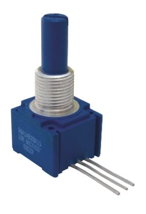 Bourns 1 Gang Rotary Conductive Plastic Potentiometer with an 6.35 mm Dia. Shaft - 250kΩ, ±10%, 1W Power Rating,