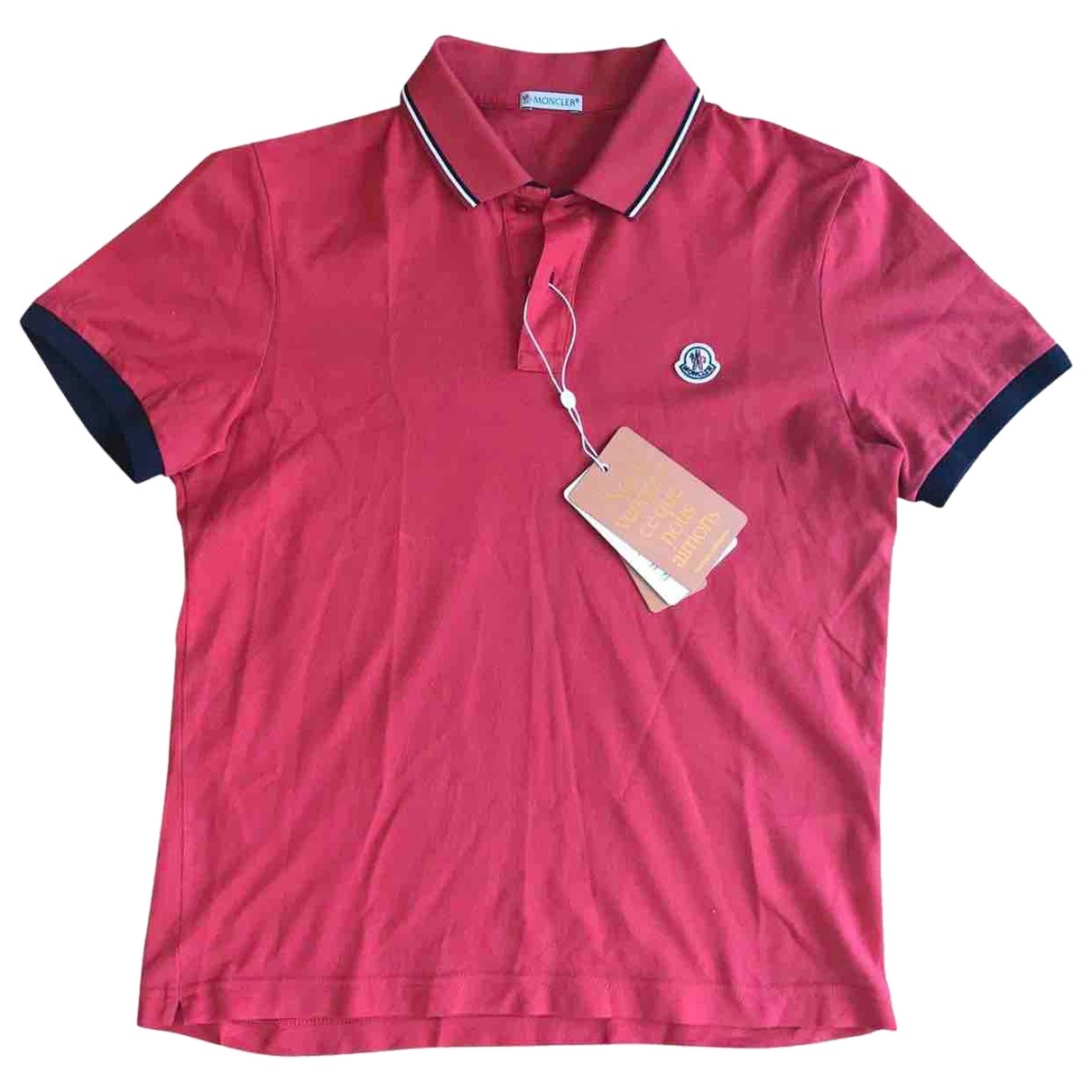Moncler \N Poloshirts in  Rot Baumwolle