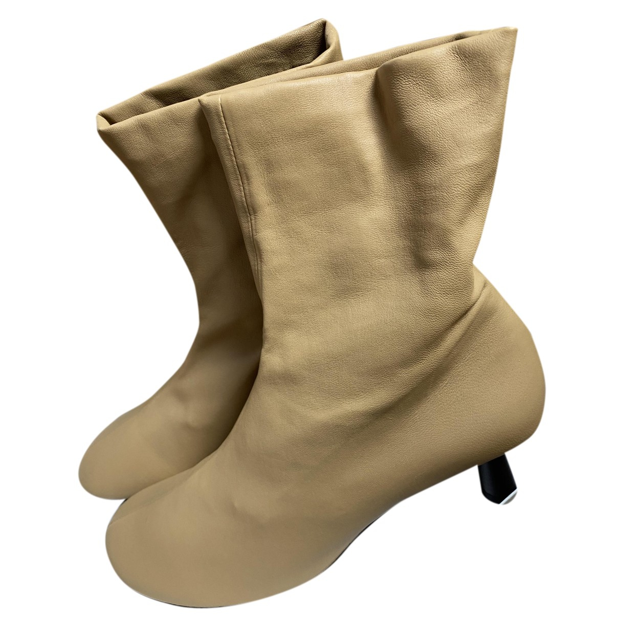 Cos N Beige Leather Boots for Women 41 EU