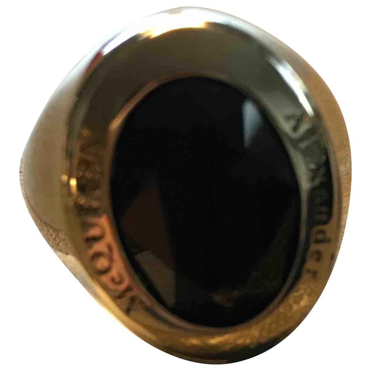 Alexander Mcqueen \N Ring in  Schwarz Metall