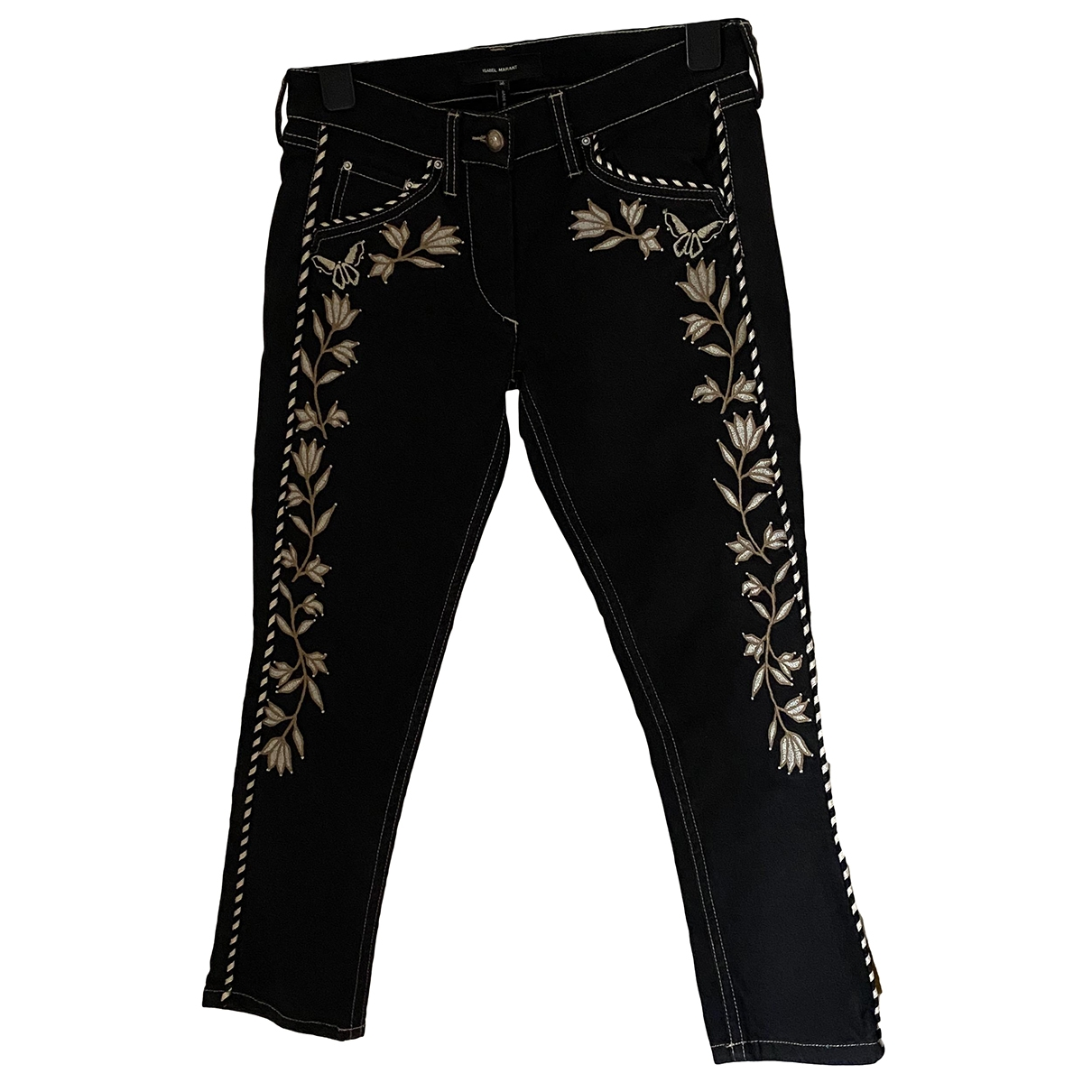 Isabel Marant \N Black Cotton - elasthane Jeans for Women 36 FR