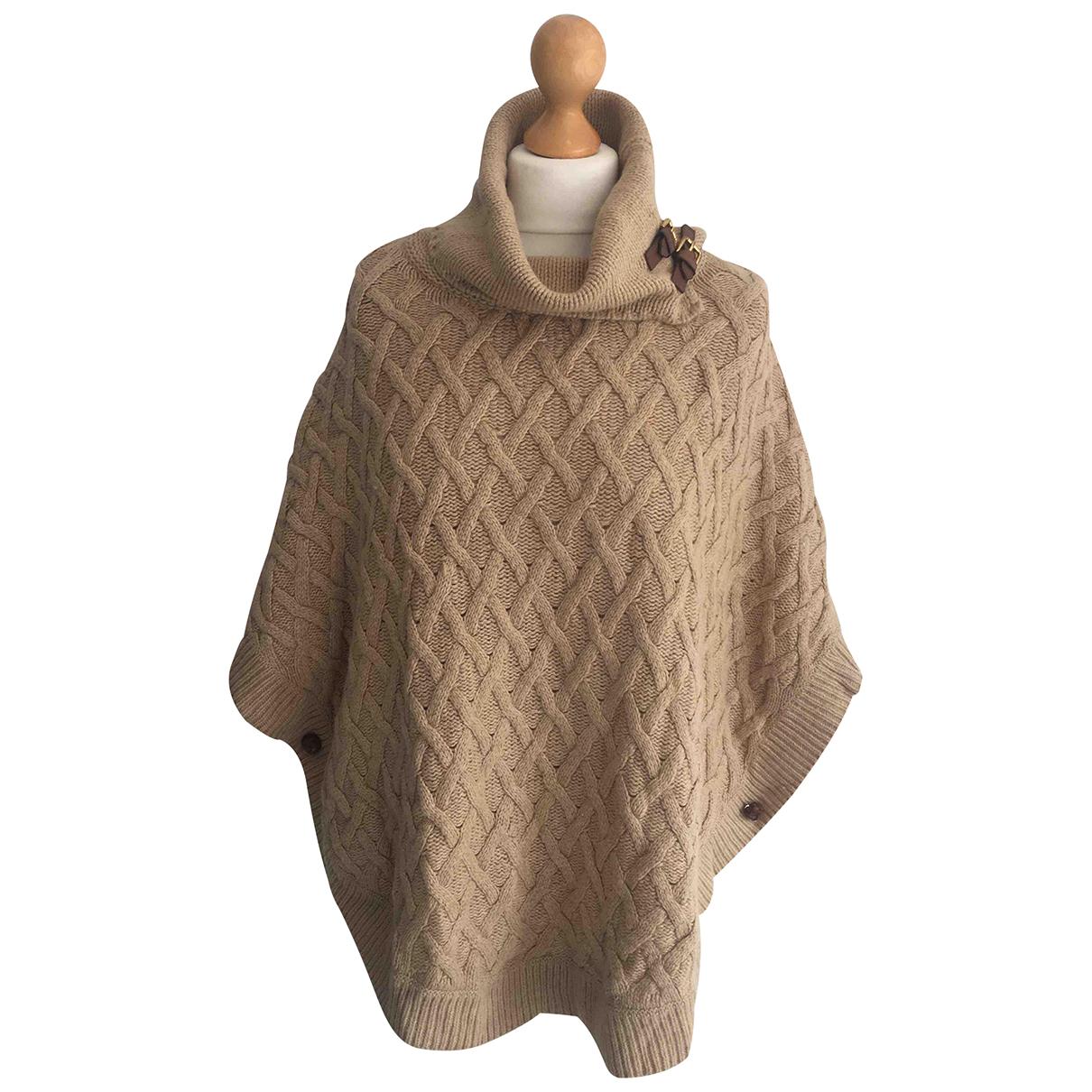 Massimo Dutti - Pull   pour femme en laine - beige