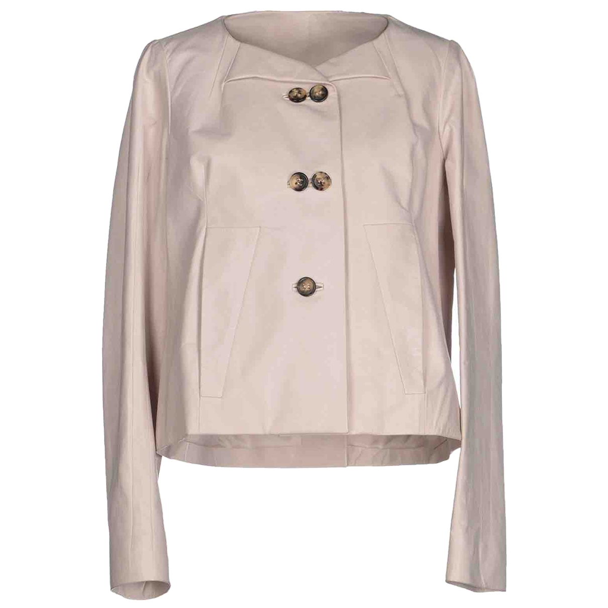 Chloé \N Ecru Leather jacket for Women 36 FR