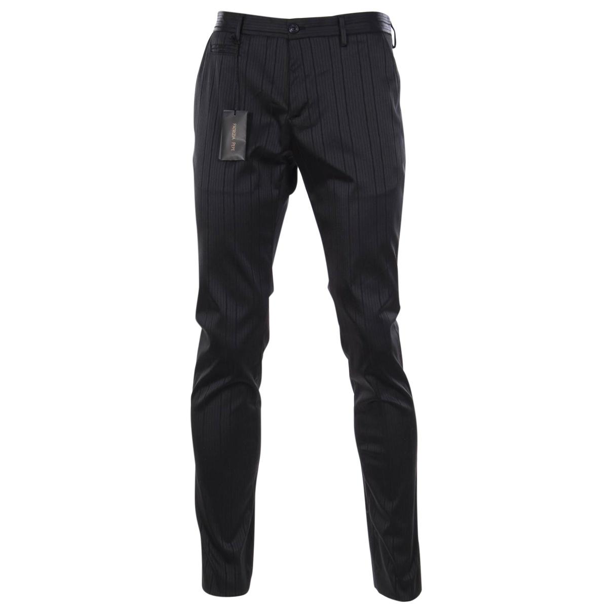 Patrizia Pepe \N Black Trousers for Men 48 IT
