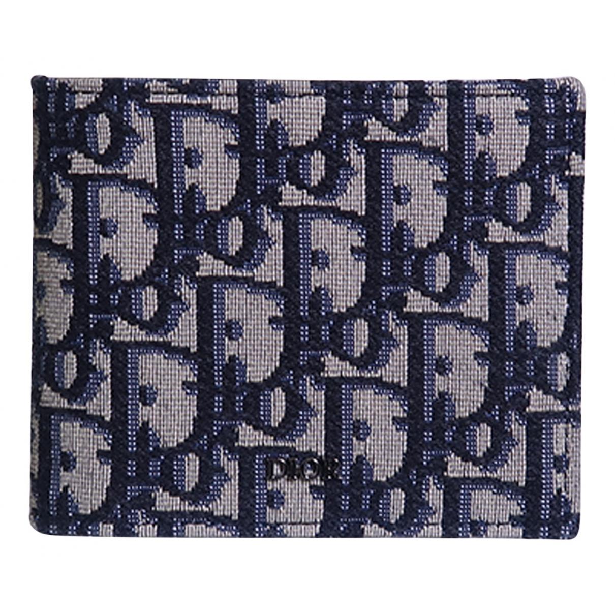 Dior - Portefeuille   pour femme en toile - bleu