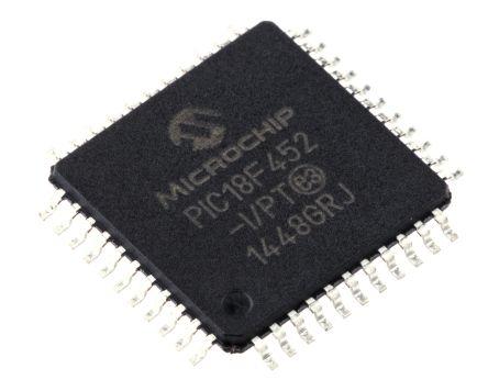 Microchip PIC18F452-I/PT, 8bit PIC Microcontroller, PIC18F, 40MHz, 32 kB Flash, 44-Pin TQFP