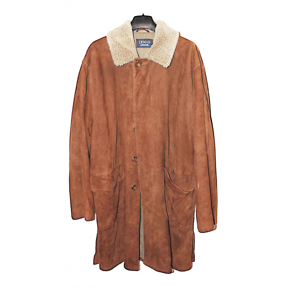 - Manteau   pour homme en suede - camel