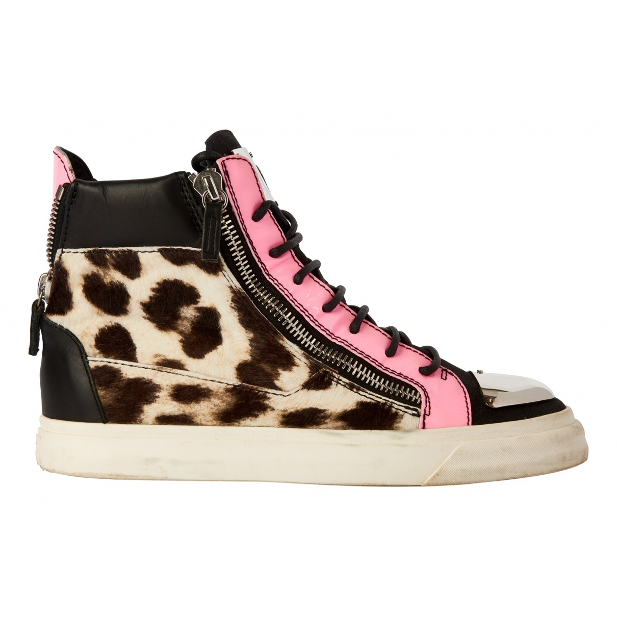 Giuseppe Zanotti Donna Multicolour Leather Trainers for Women 7 UK