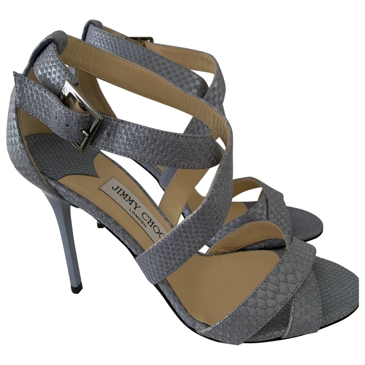 Jimmy Choo \N Pumps in  Grau Python