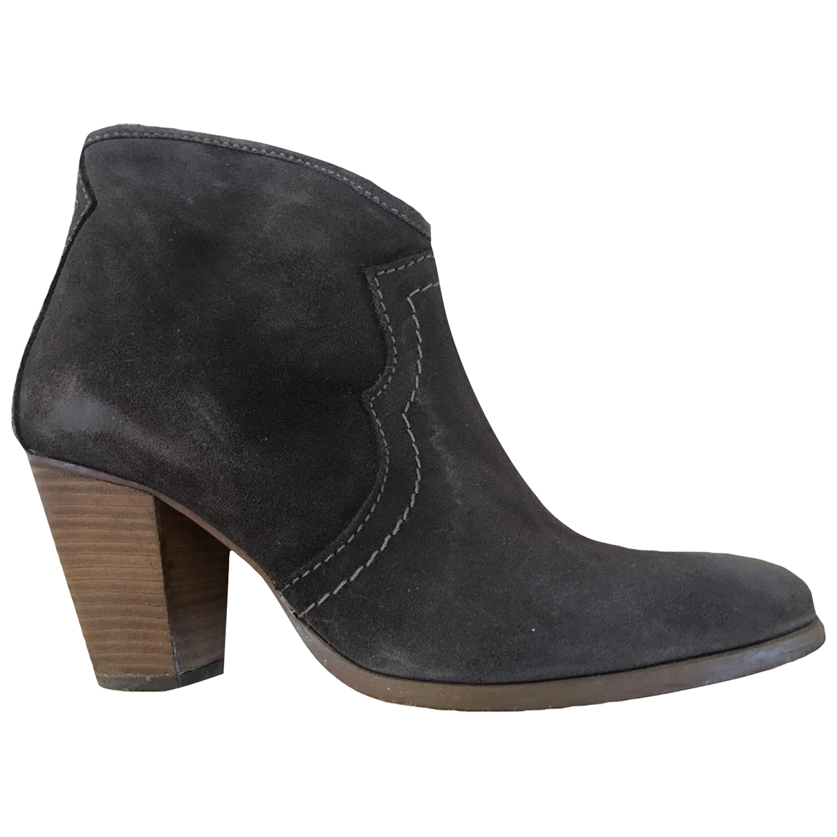 Jigsaw \N Grey Suede Ankle boots for Women 5 UK
