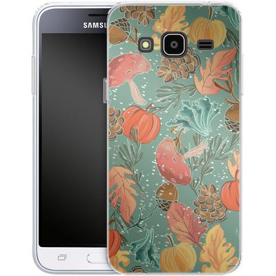 Samsung Galaxy J3 (2016) Silikon Handyhuelle - Fall Woodland Green von Mukta Lata Barua