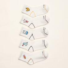 5pairs Cartoon Socks
