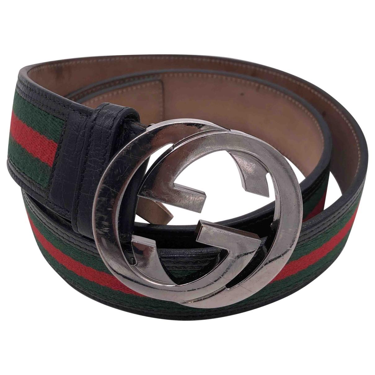 Gucci \N Green Cloth belt for Men 100 cm