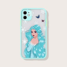 Contrast Frame Snowflake Beauty iPhone Case