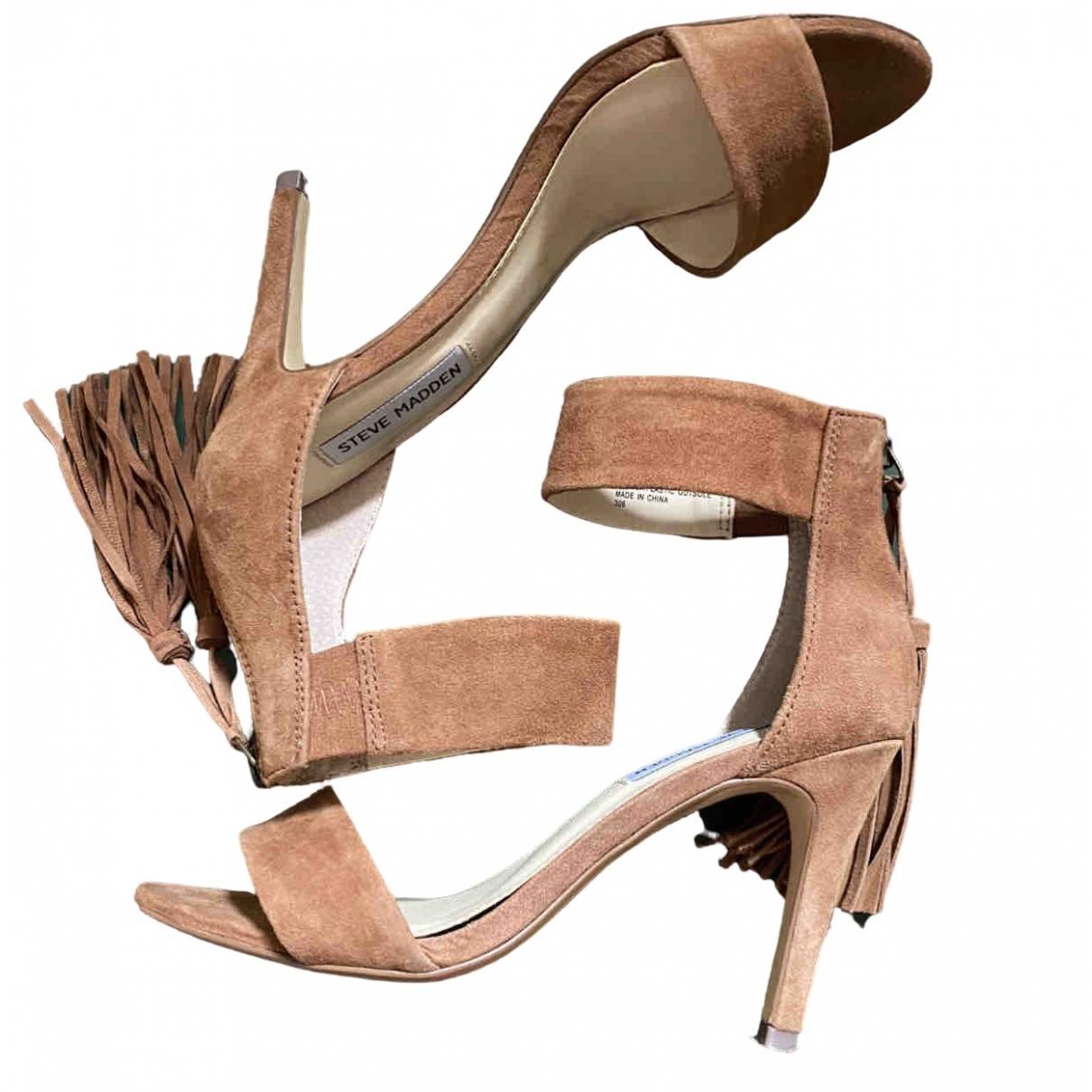 Steve Madden \N Camel Suede Sandals for Women 3 UK
