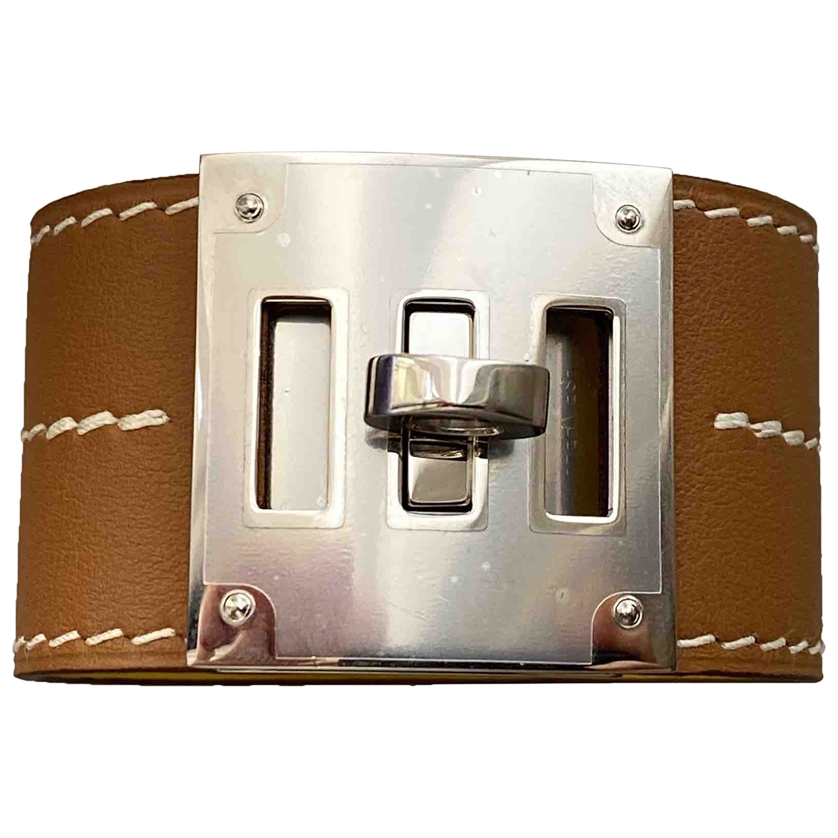 Hermes - Bracelet Kelly pour femme en cuir - beige