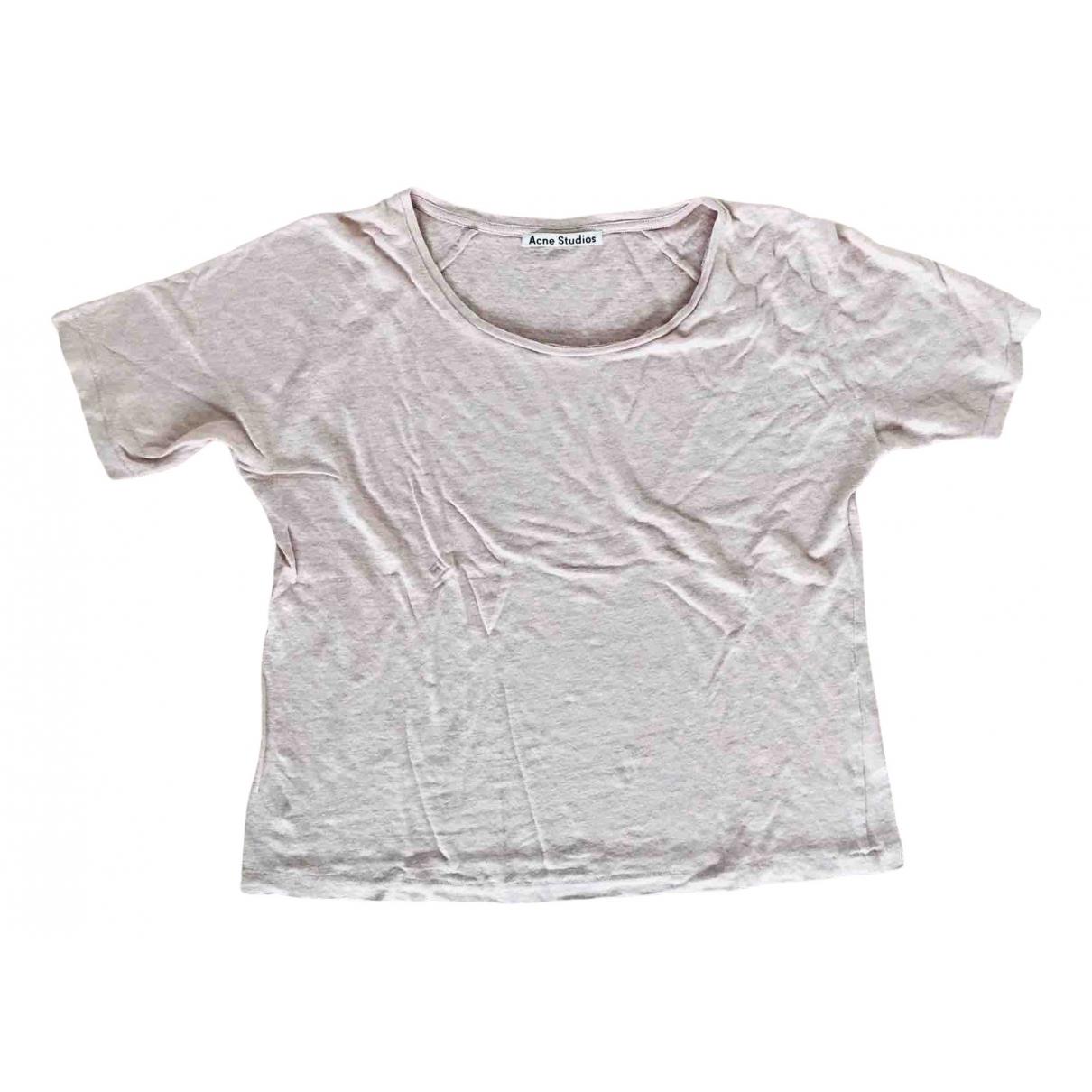 Acne Studios - Top   pour femme en lin - rose
