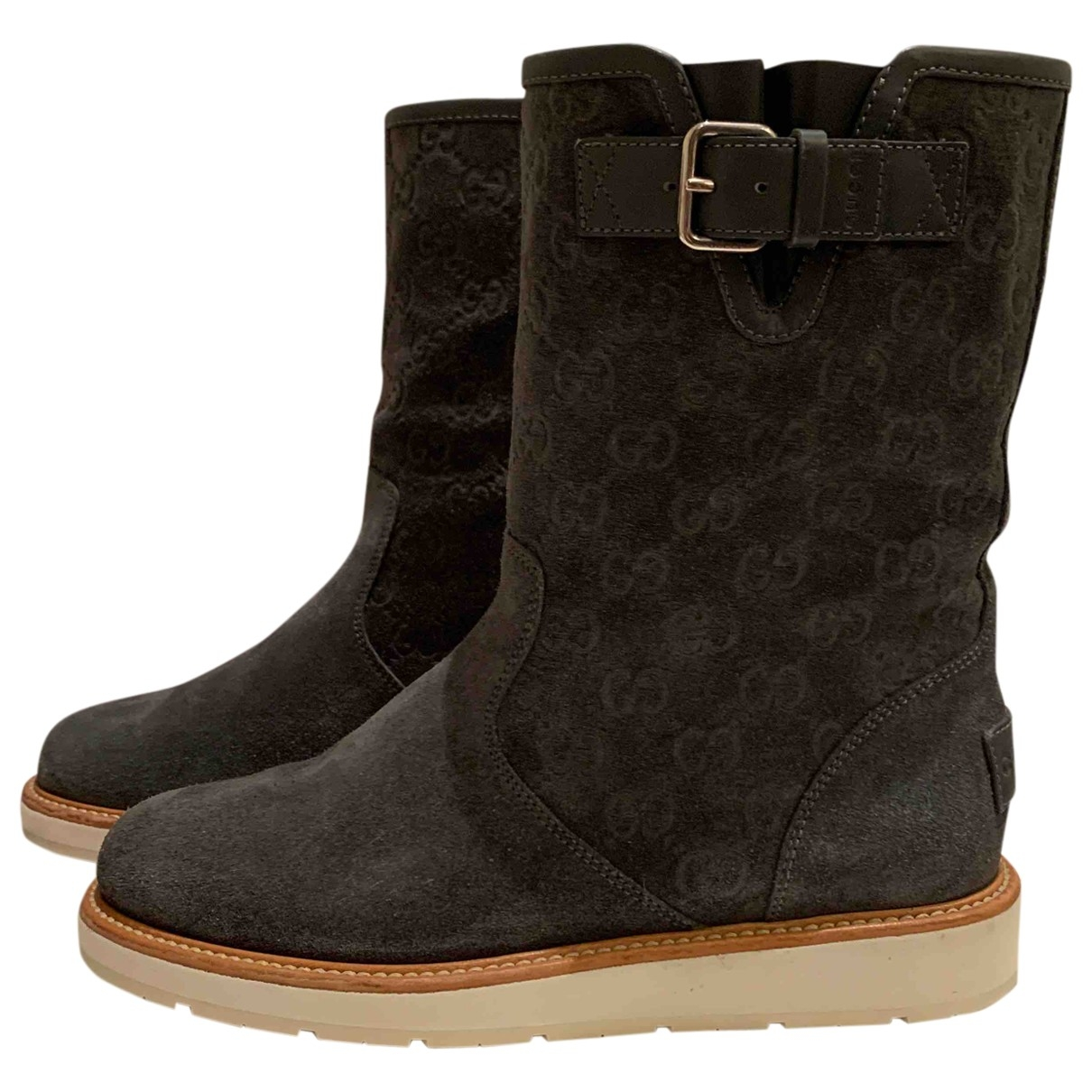 Gucci \N Grey Suede Boots for Women 37 EU