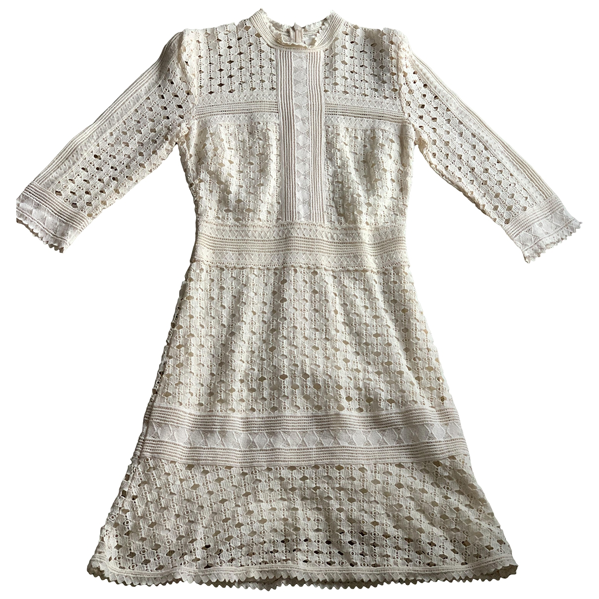 Ba&sh - Robe   pour femme en coton - ecru