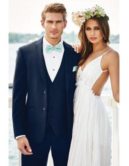 Mens Beach Wedding Attire Suit Menswear Navy Blue 199
