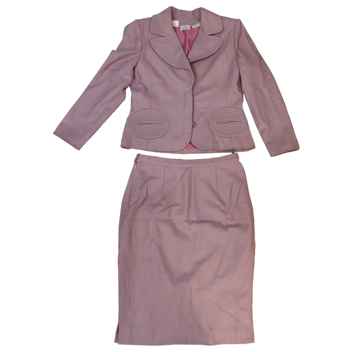 Valentino Garavani \N Pink Wool skirt for Women 12 UK