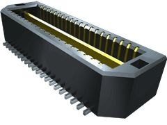 Samtec , Q Strip QTE, 40 Way, 2 Row, Vertical Header (54)