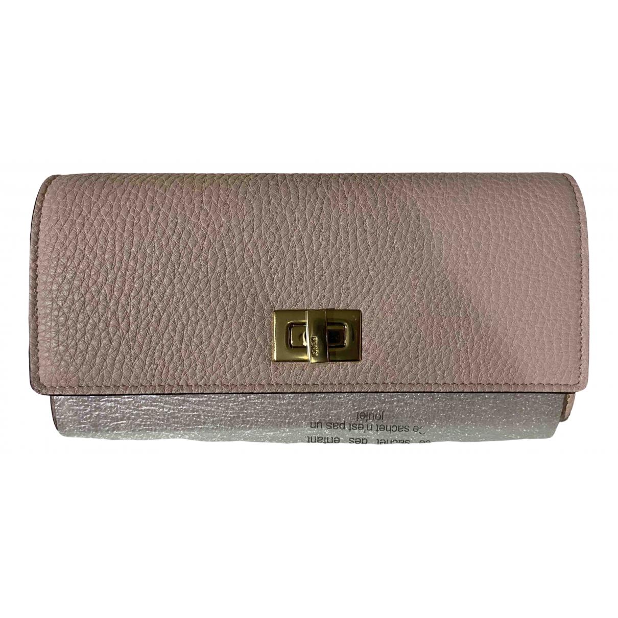 Fendi \N Portemonnaie in  Rosa Leder