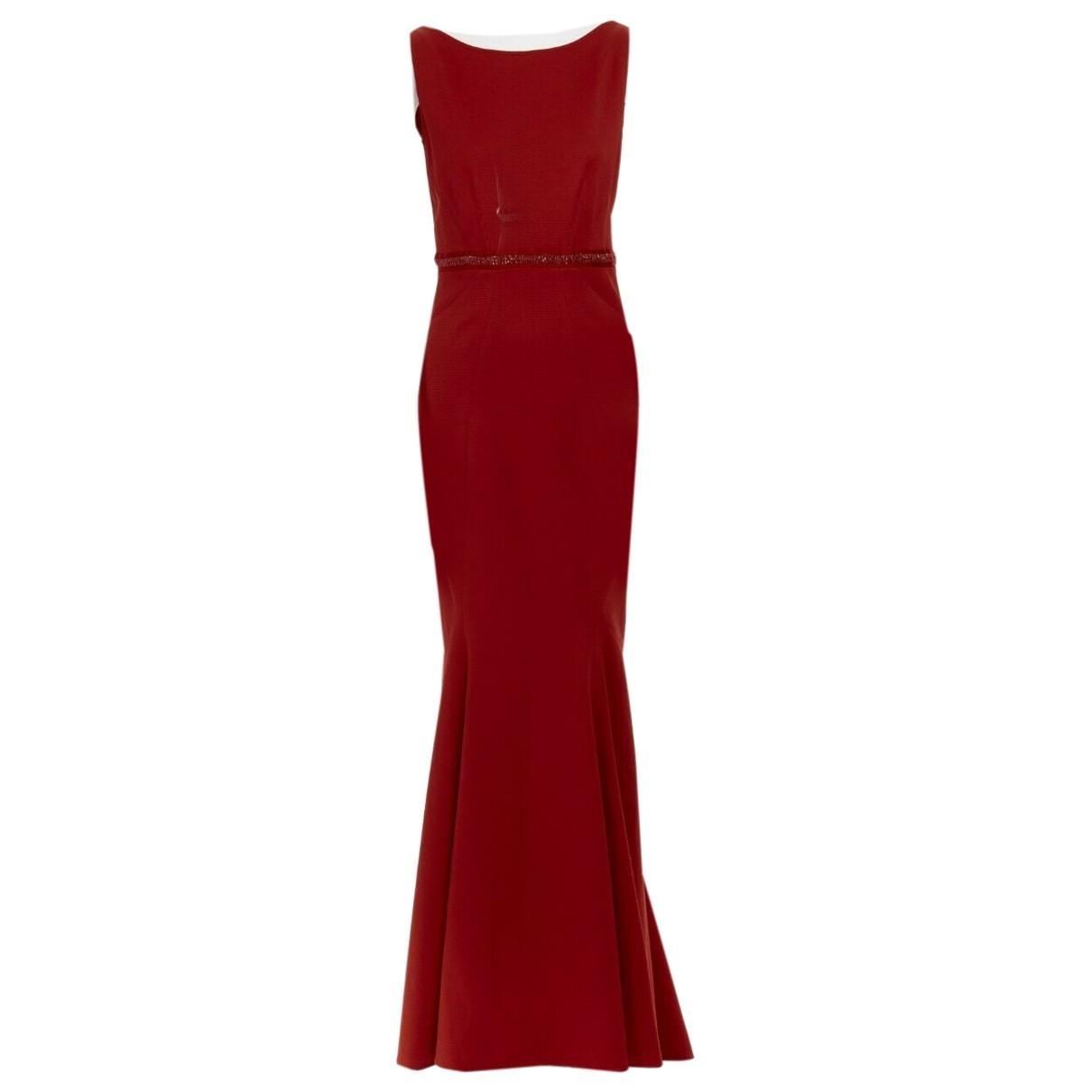 Zac Posen \N Red Cotton dress for Women 6 US