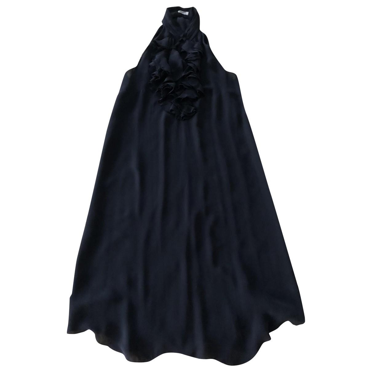 Lagence \N Kleid in  Schwarz Seide