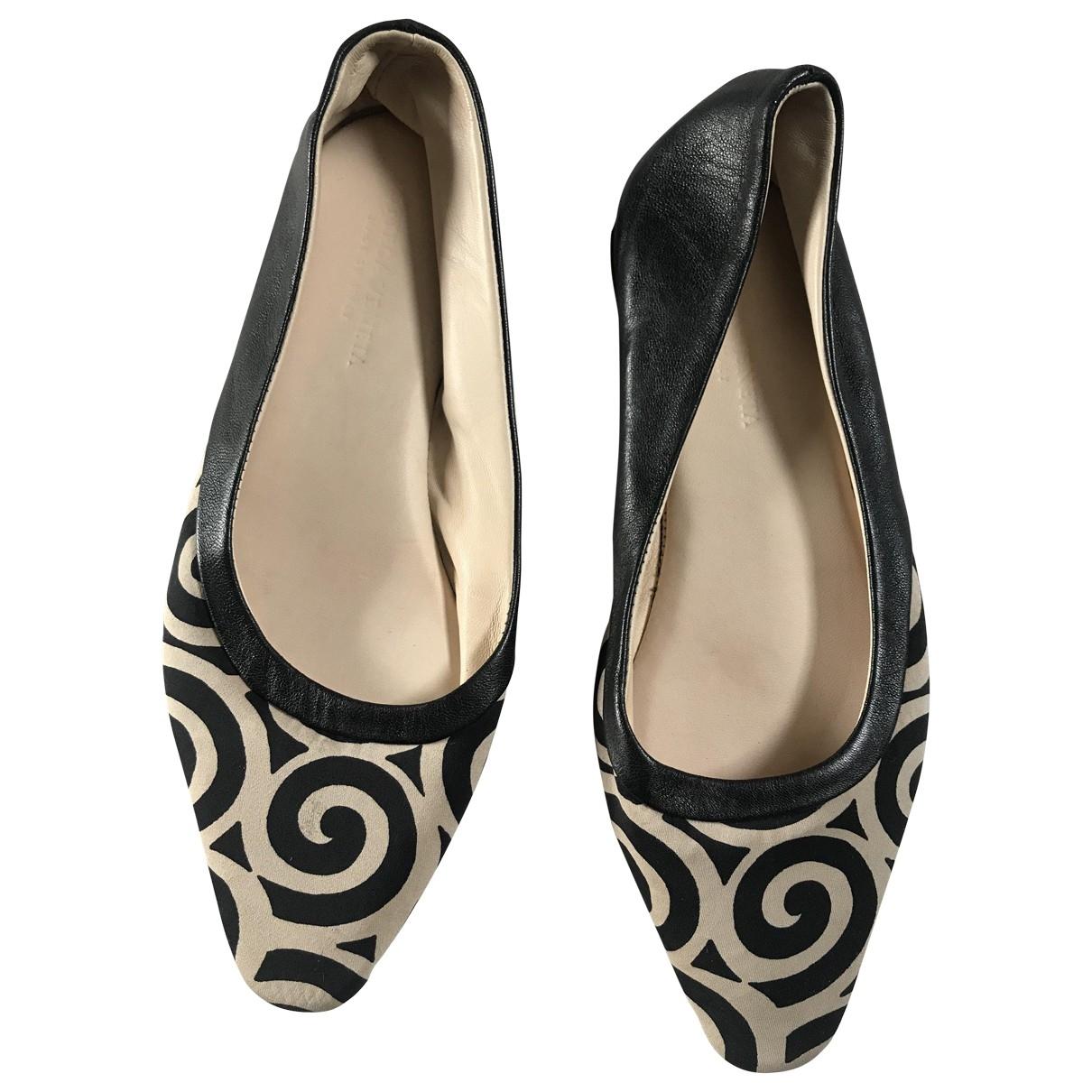 Bottega Veneta \N Black Leather Ballet flats for Women 37 IT