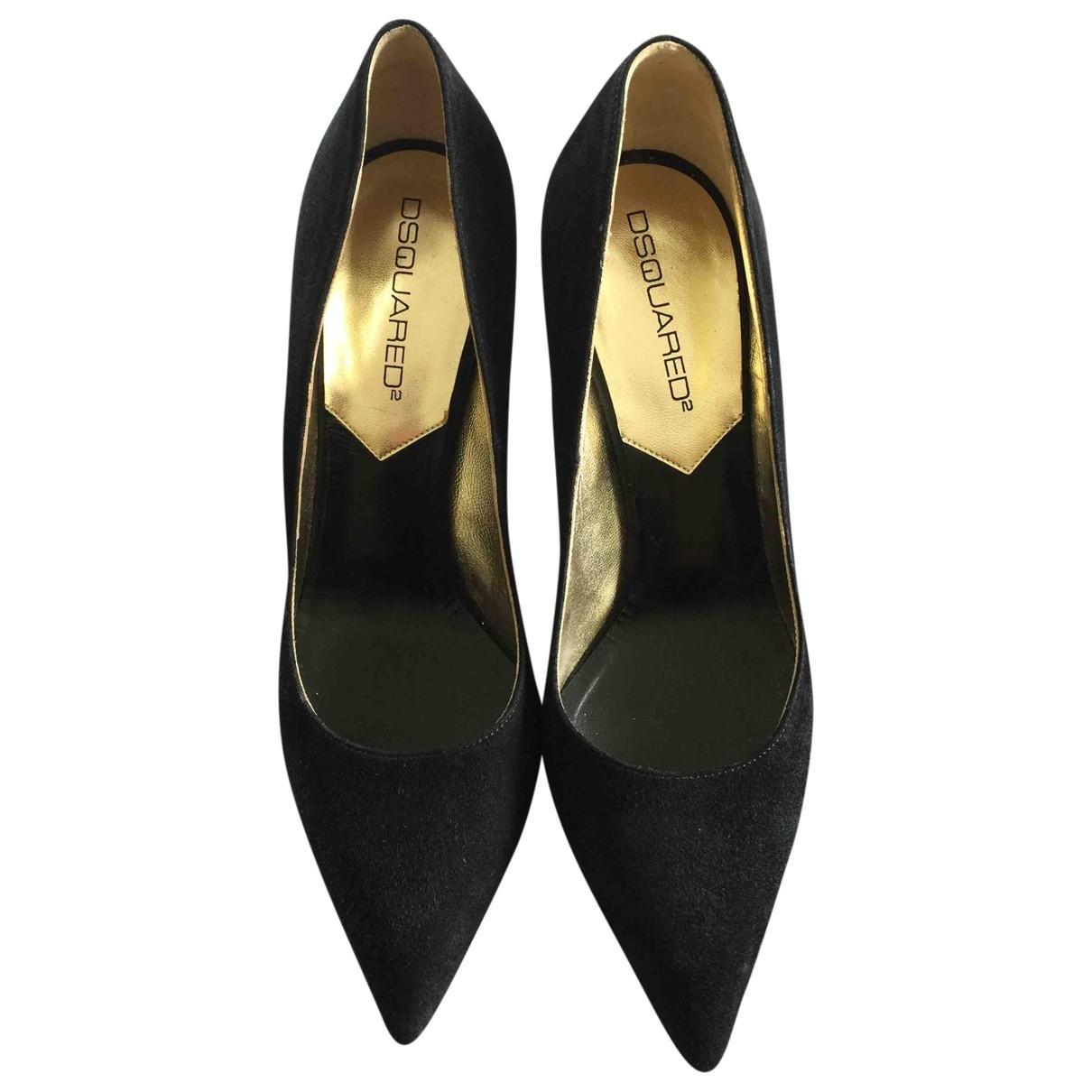 Dsquared2 \N Black Velvet Heels for Women 38 EU