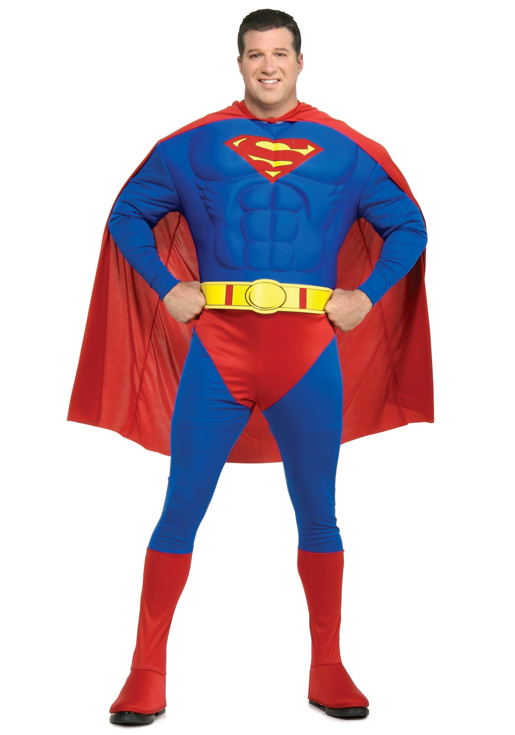 Plus Size Superman Superhero Costume