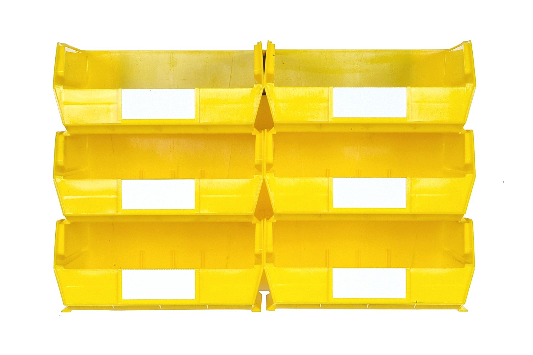 Triton Yellow 8 PC Wall Storage Unit - Large