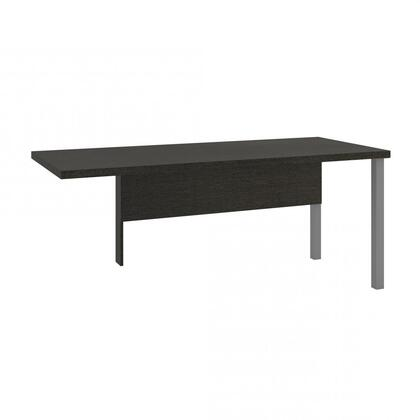 Pro-Linea Collection 120811-32 71 Return Table with 1.5 Commercial Grade Work Surface  Matte Silver Square Metal Legs  Rectangular Shape and