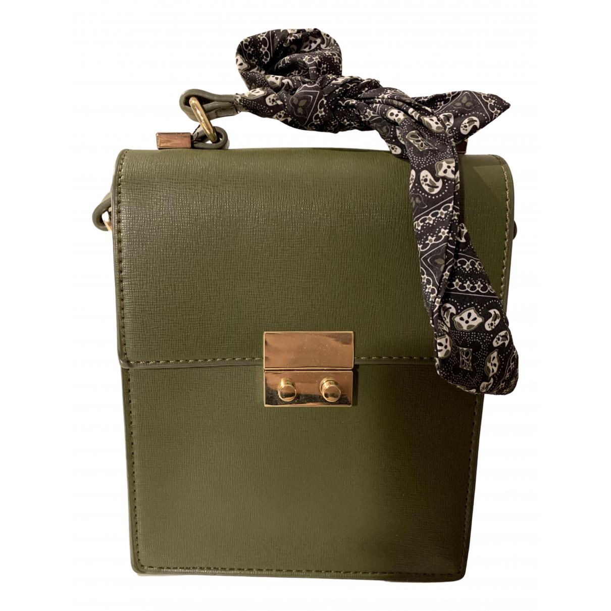 Zara \N Handtasche in  Gruen Leder