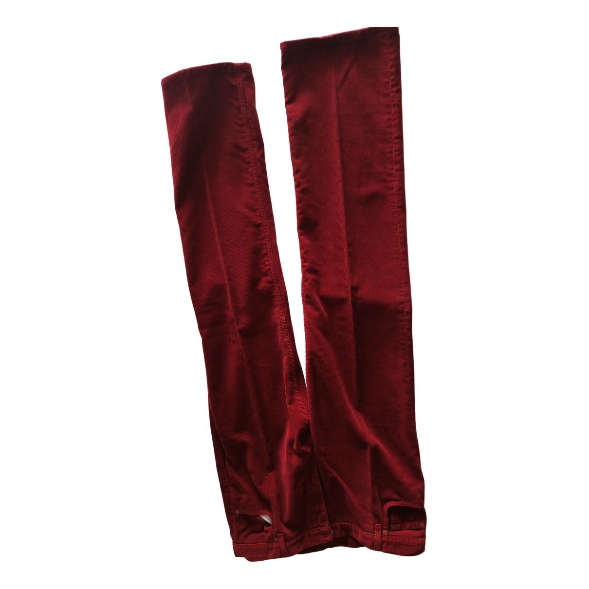 Gucci N Burgundy Velvet Trousers for Men 50 IT