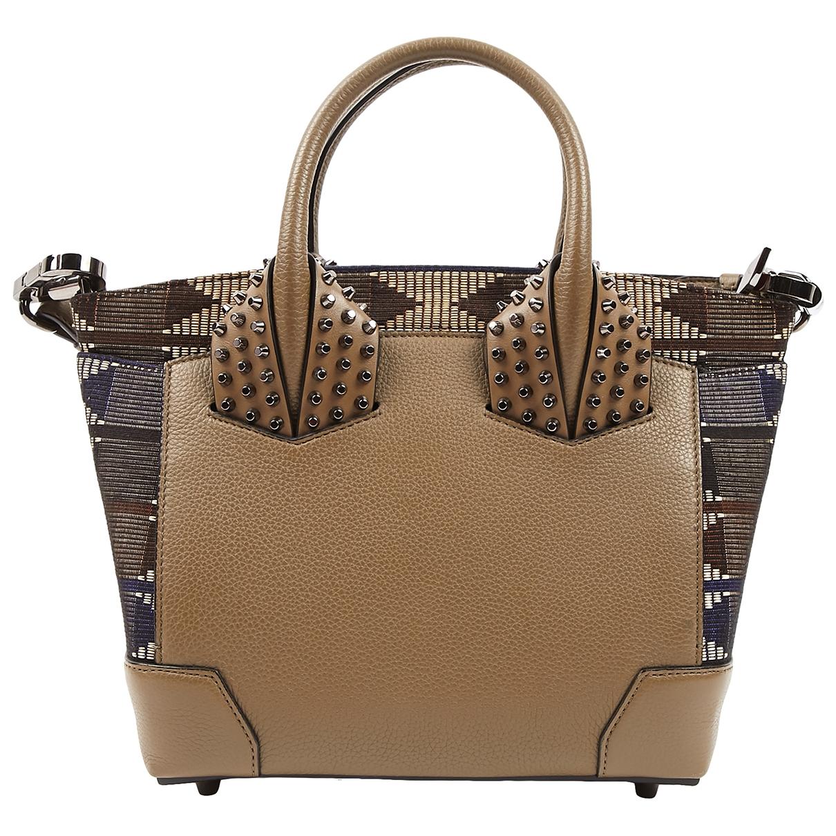 Christian Louboutin Éloïse Khaki Leather handbag for Women \N