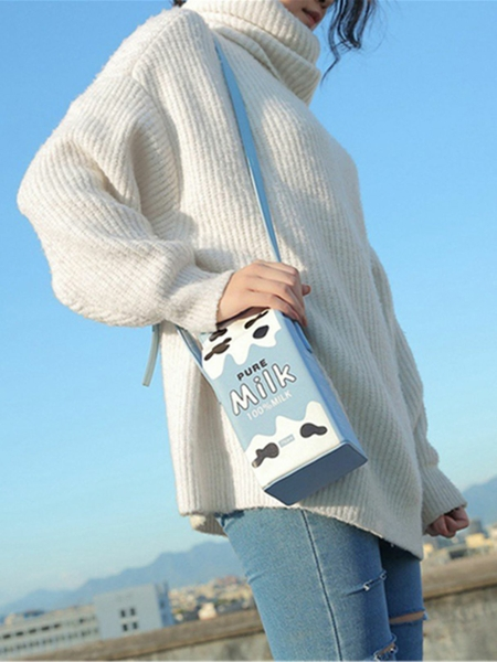 Yoins Cute Milk Box Casual Crossbody Bag