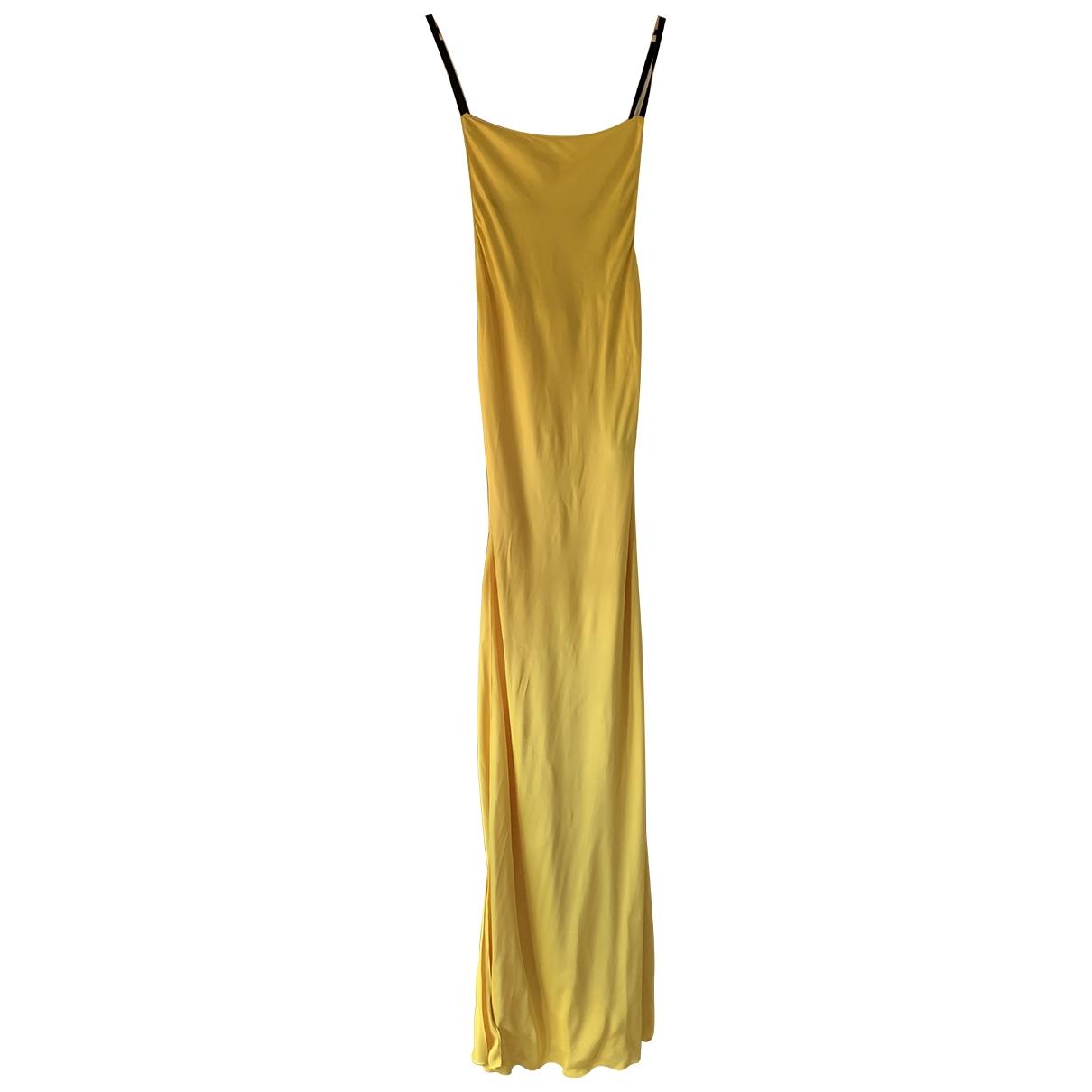Heron Preston \N Kleid in  Gelb Seide