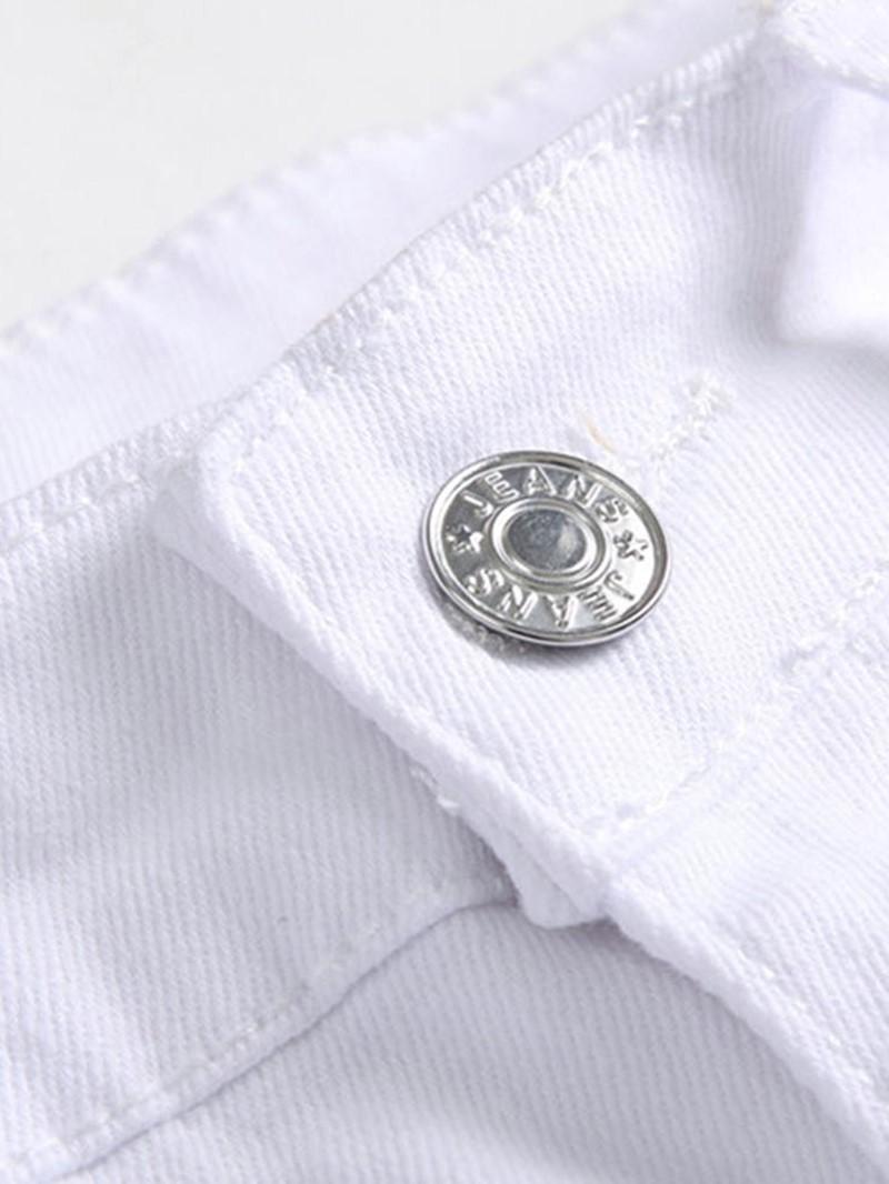 Ericdress Print Zipper European Jeans