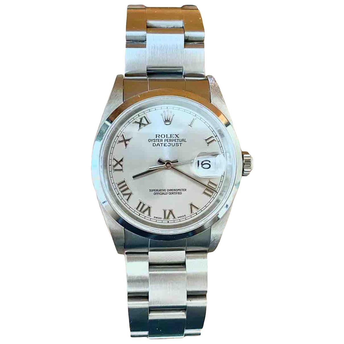 Rolex - Montre Datejust 36mm pour homme en acier - argente