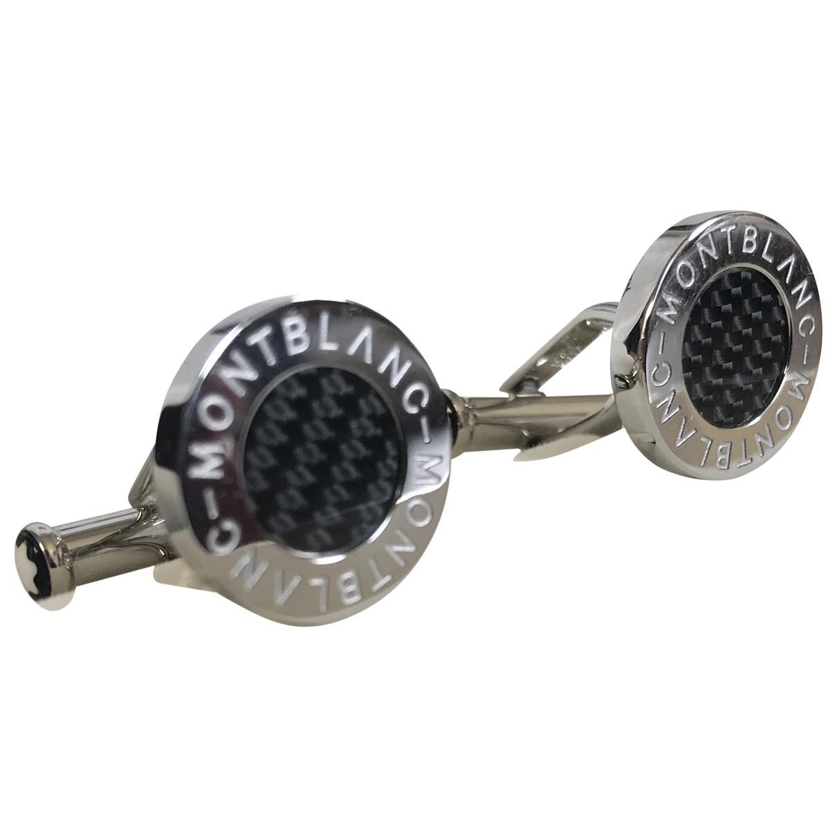 Montblanc \N Manschettenknopfe in  Silber Stahl