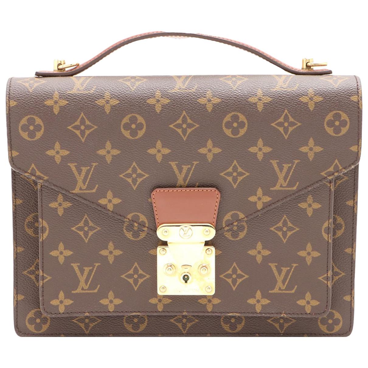 Bolso Monceau de Lona Louis Vuitton