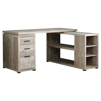 I 7422 Computer Desk - Taupe Reclaimed Wood L/R Facing
