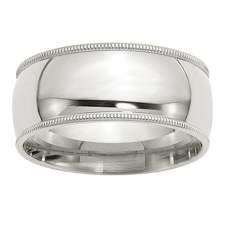 Milgrain Comfort Fit 9M Sterling Silver Wedding Band, 4 , No Color Family