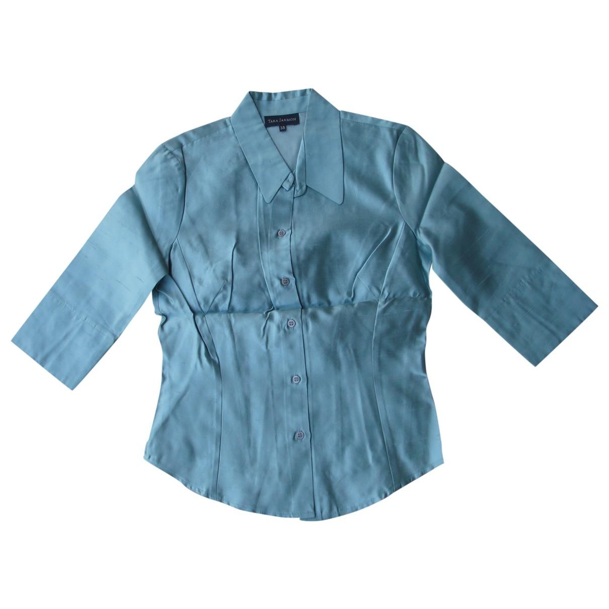 Tara Jarmon - Veste   pour femme en soie - turquoise