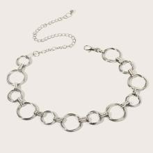 Cinturon de cadena con diseño de aro