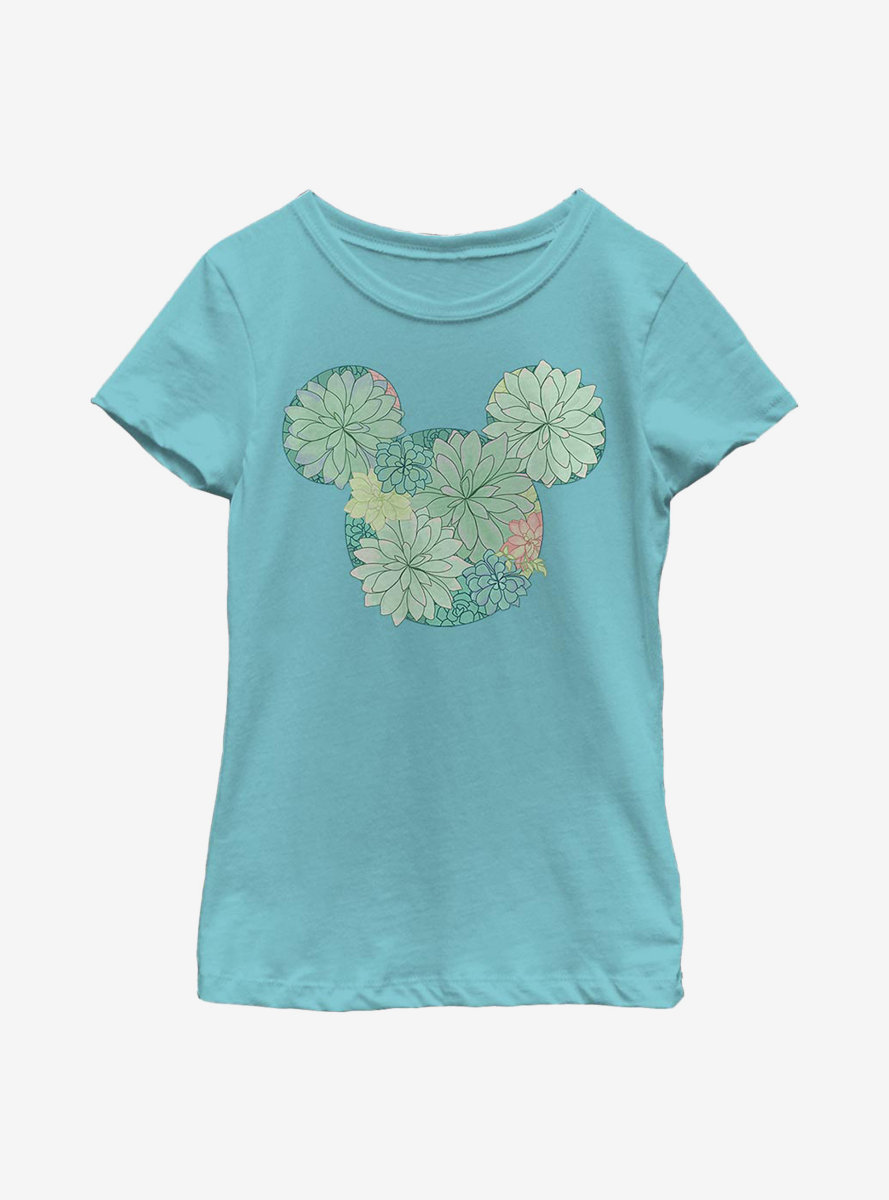 Disney Mickey Mouse Succulents Youth Girls T-Shirt
