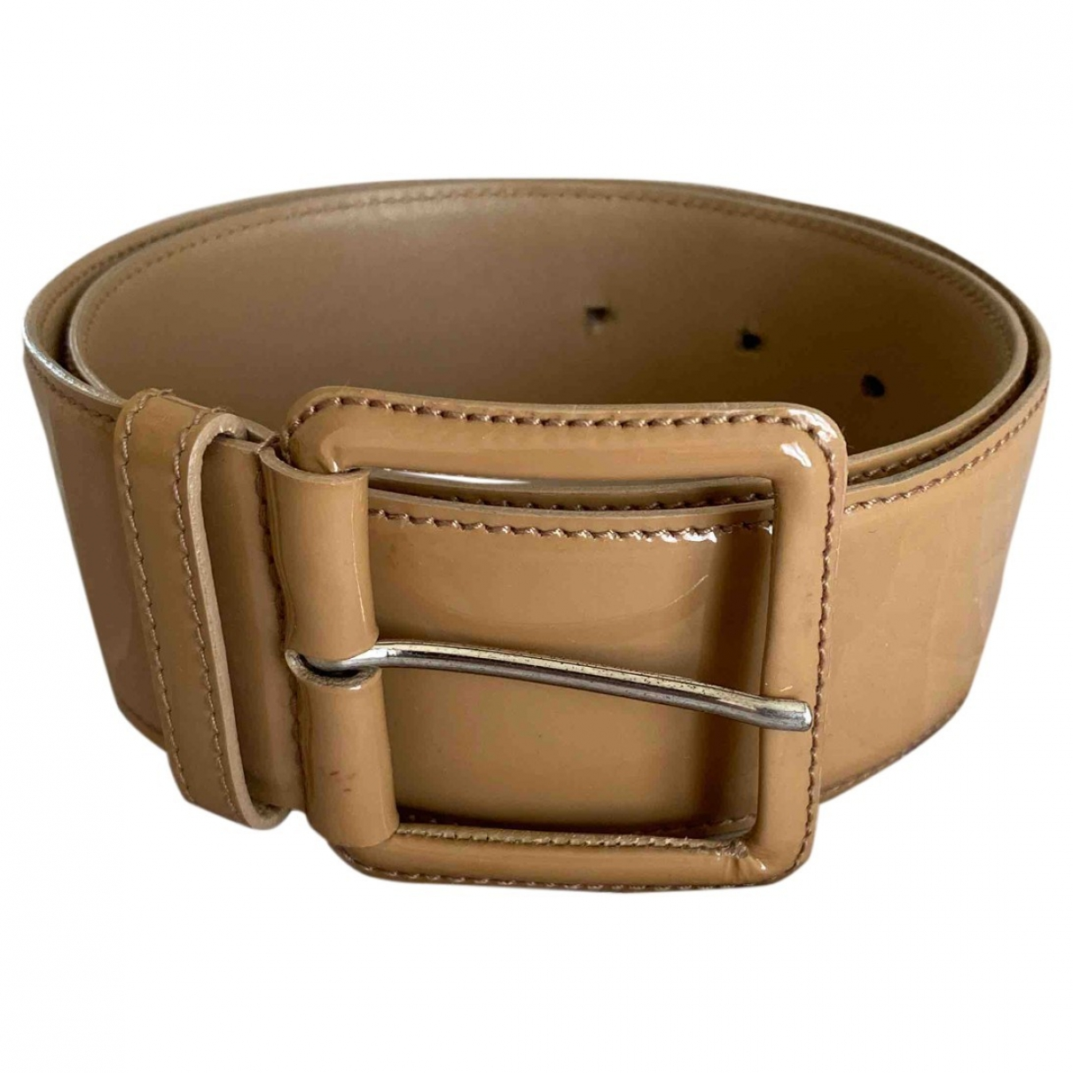 Miu Miu \N Camel Patent leather belt for Women 75 cm