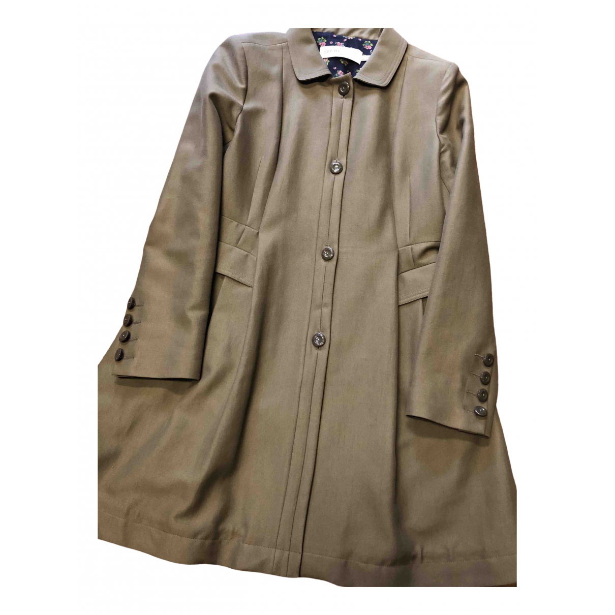 See By Chloé \N Khaki Cotton coat for Women 46 IT